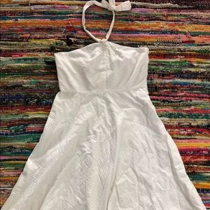 J Crew size 10 White halter fit flare dress